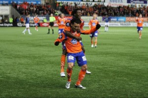 Michael Barrantes volvió al gol en Noruega. Foto crlegionarios