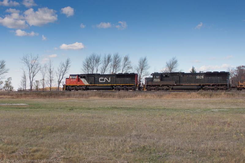 CN 5799 and IC 1028 in Winnipeg