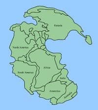 Mapa, Mapa de Pangeia