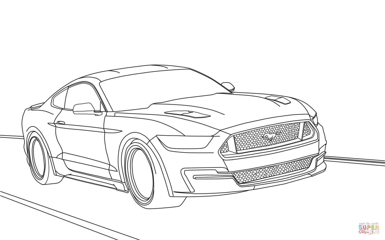 er sur la Ford Mustang 2015 coloriages pour visualiser la version imprimable ou colorier en ligne patible avec les tablettes iPad et Android