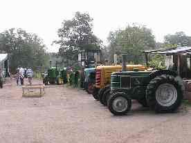 A line-up of tractors, June 2007
