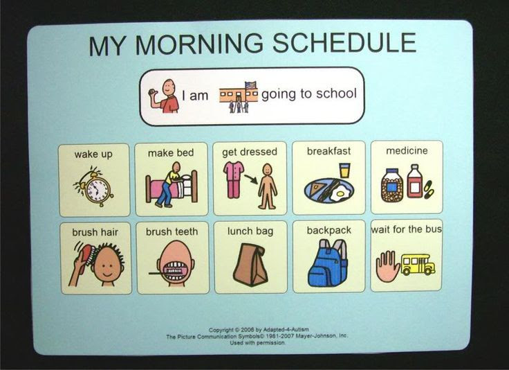 Bed Night Time Schedule Picture Card~PECS/Autism | Picture cards ...