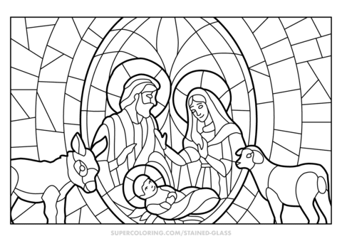 5200 Top Coloring Pages Christmas Nativity Scene Images & Pictures In HD