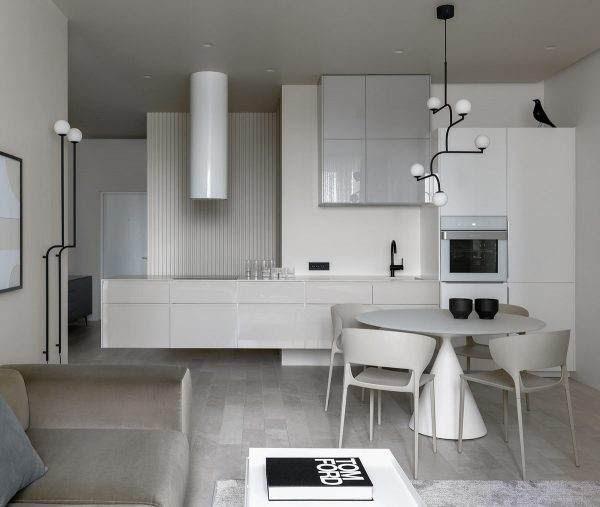 Διαμέρισμα σε ένα χρώμα όπως μια σουίτα ξενοδοχείου