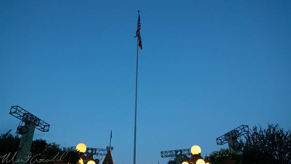 Disneyland Resort, Disneyland60, 60, Anniversary, 24, Hour, Party, Celebration, Kick, Off, Raise, Raising, Flag, Disneyland, Main Street U.S.A.