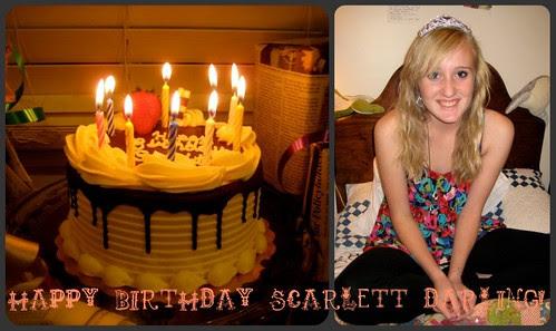 Scarlett Birthday Collage