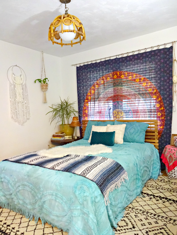 Bohemian eclectic bedroom tour