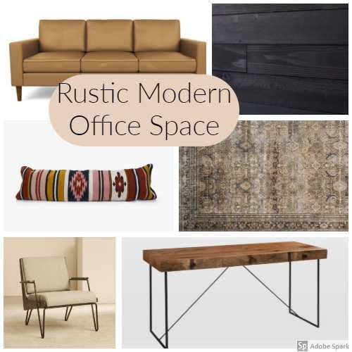 Rustic Modern Office Space One Room Challenge Week One