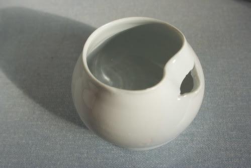 Blue egg separator by potteryrachel