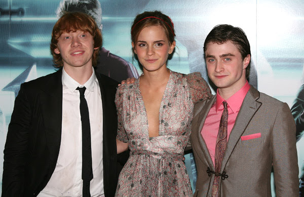 Rupert Grint, Emma Watson and Daniel Radcliffe Photo: Getty/Jon Furniss