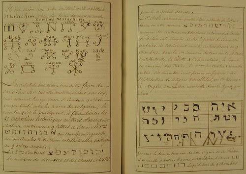 Magick symbols and text