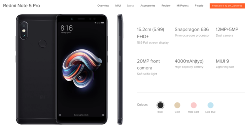 Os novos Xiaomi Redmi Note 5 e Redmi Note 5 Pro