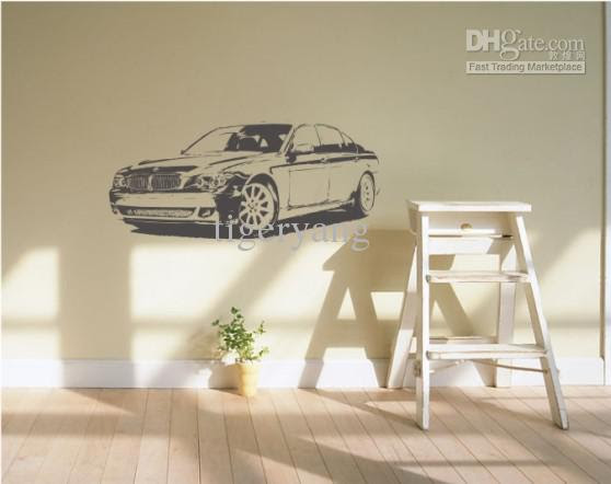 Wholesale FASHION carved wall decor murals decals art home sticker ...