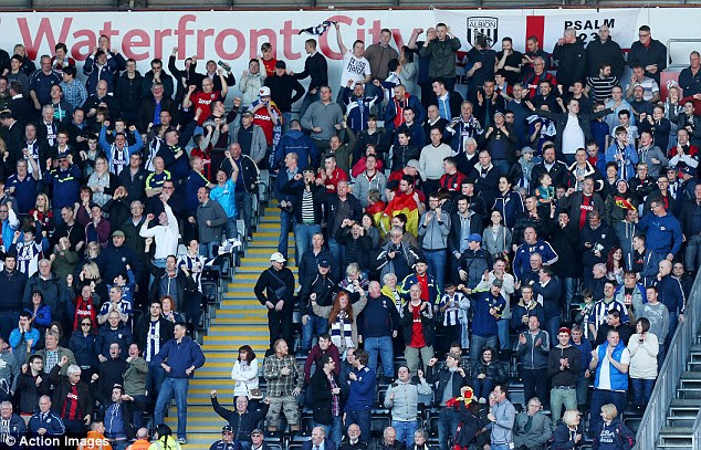 West Bromwich Albion fans are said to get behind their team less than any other club