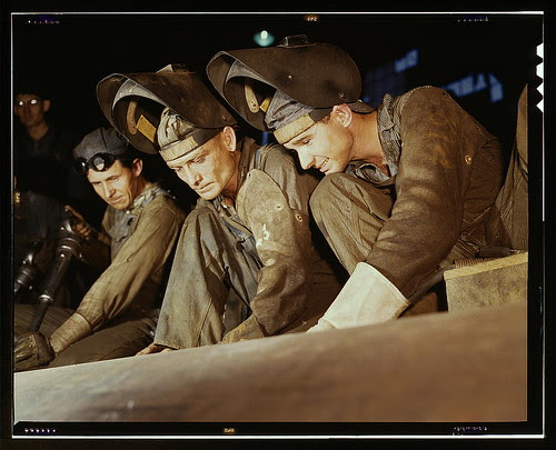 Welders making boilers for a ship, Combustion Engineering Co., Chattanooga, Tenn. (LOC)