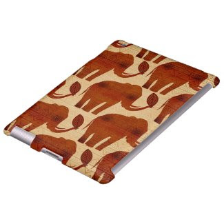 Elephant Tribal Art Design iPad Case