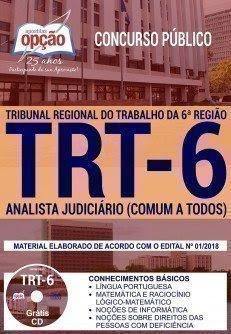 Apostila Concurso TRT 6ª Região 2018   ANALISTA JUDICIÁRIO (COMUM A TODOS)