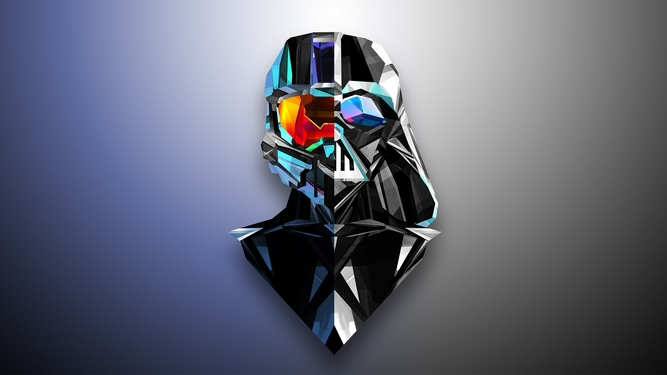 Abstract Darth Vader Master Chief Low Poly Justin Maller Halo