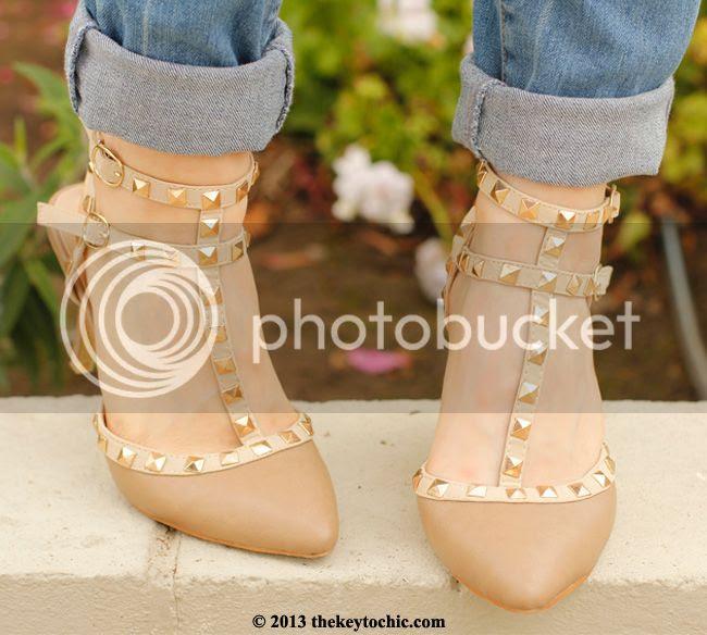 Boohoo Lexie studded kitten heels, Valentino RockStud heels look for less, Valentino Rockstud look alike heels