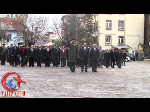 Bozkır Anıt Meydanında 10 Kasım Töreni ve Sirenler Çalıyor.