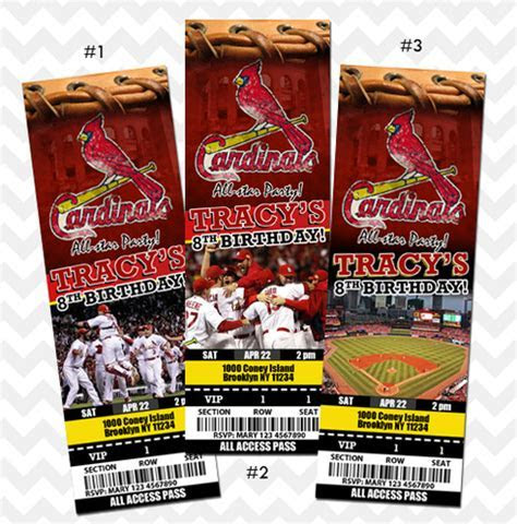 St. Louis Cardinals Invitation, Birthday, Save the Date on