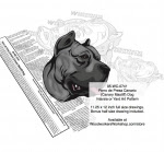 Perro de Presa Canario (Canary Mastiff) Dog Woodworking Pattern - fee plans from WoodworkersWorkshop® Online Store - Perro de Presa Canario (Canary Mastiff) Dog,pets,animals,dog breeds,yard art,painting wood crafts,scrollsawing patterns,drawings,plywood,plywoodworking plans,woodworkers projects,workshop blueprints