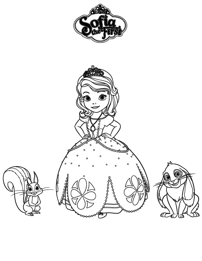 Princess Sofia Coloring Pages At Getdrawingscom Free For Personal