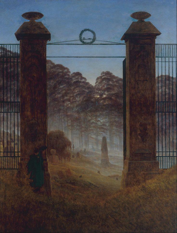 Caspar David Friedrich - El Cementerio
