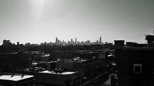 (100E4484) Winter Chicago Skyline .