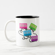 Colorful Cassette Tapes mug