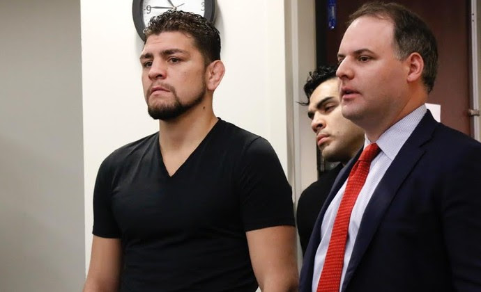 Nick Diaz Audiência NAC (Foto: Evelyn Rodrigues)