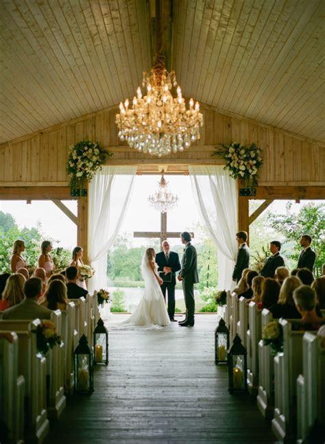 southern wedding barn ceremony