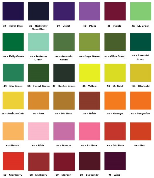 Over Dyeing Color Chart
