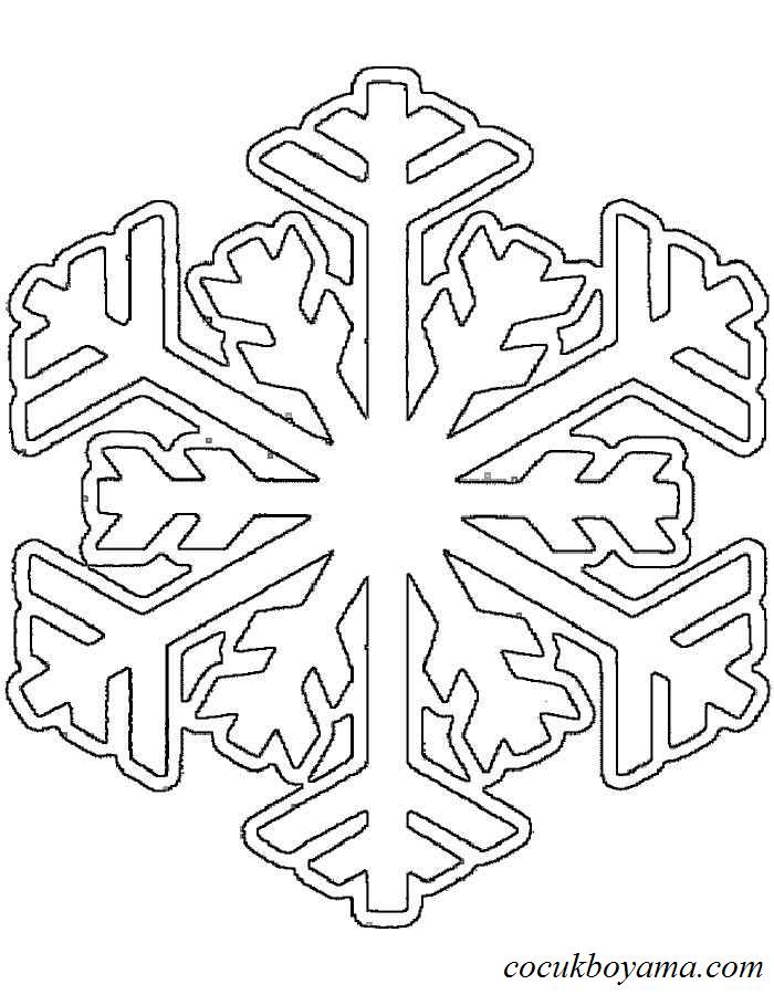 Kar Tanesi 26 ücretsiz Boyama Resimleri