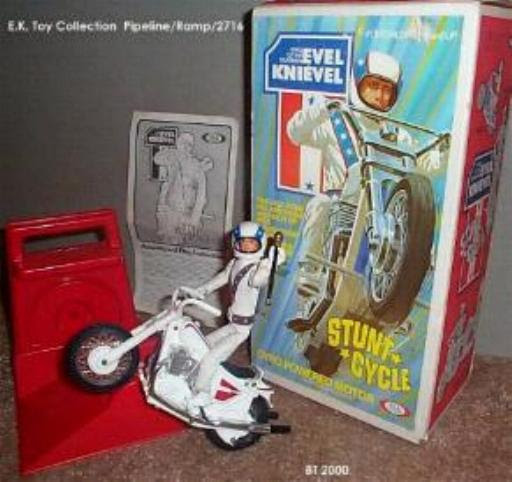 Evel Knievel Stunt Cycle and Action Figure
