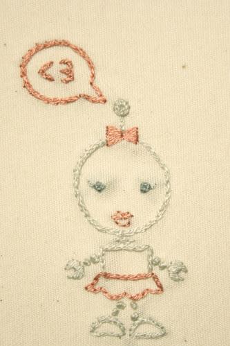 Robot Love Valentine Card (Closeup)