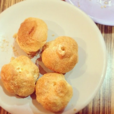 And our meal ended with some not so awesome cream puffs. :/  (Taken with Instagram)