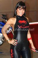 Foto modelo/mulher Viper Vencedora do Concurso Garota Salão da Motocicleta