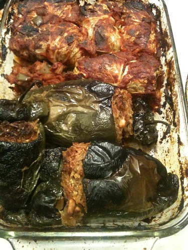 Stuffed Peppers & Cabbage Rolls