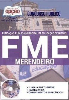 Apostila concurso FME de Niterói/RJ 2016 para MERENDEIRO.