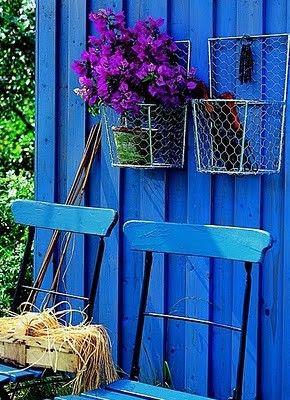 Beautiful, saturated blue.