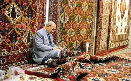 Traditional carpet bazaar in Isfahan Province, Central Iran