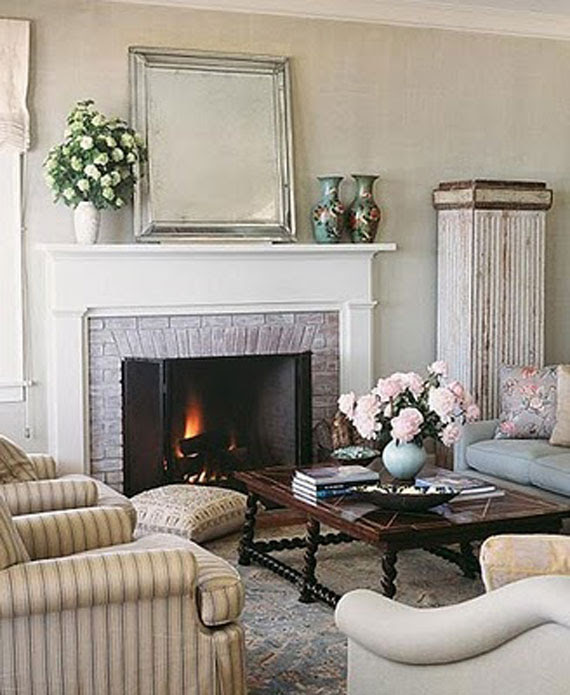 Fireplace Hearth Ideas: Corner Fireplace Decorating Ideas