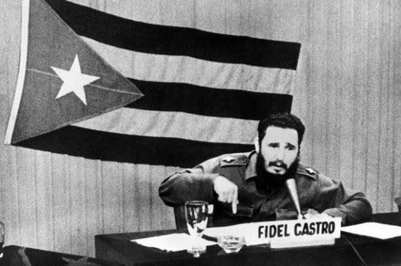 Fidel interviene en TV en medio de la crisis de octubre Octubre de 1962. foto: Archivo