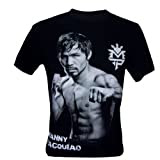 Immortal Men's Manny Pacquiao Pac Man Boxing Champion T-Shirt Black X-Large