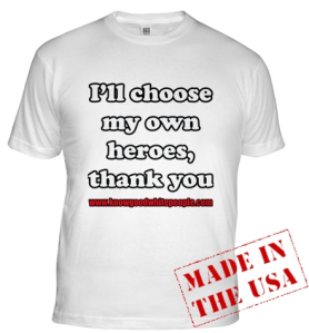Front of John Brown T-shirt
