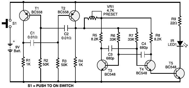 Simple Rc Car Transmitter And Receiver Circuit Diagram