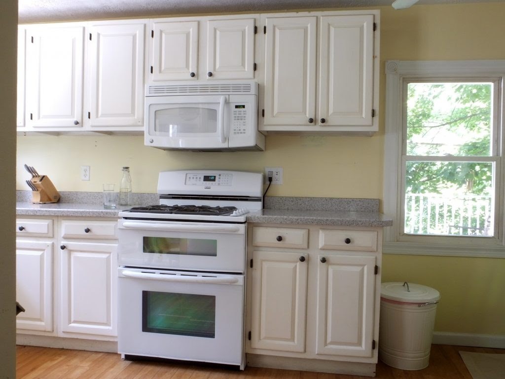 Kitchens with White Cabinets and Grey Walls