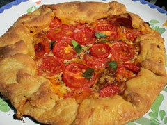 Cheese and Tomato Galette by Teckelcar