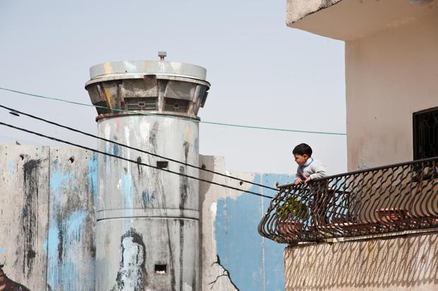 child-israel-wall